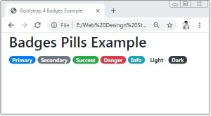 Bootstrap 4 Badges Pills Example