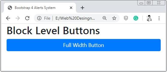 Bootstrap 4 Block Level Button