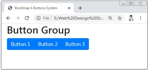 Bootstrap 4 Button Groups