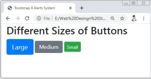 Bootstrap 4 Button Sizes