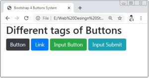Bootstrap 4 Buttons Examples