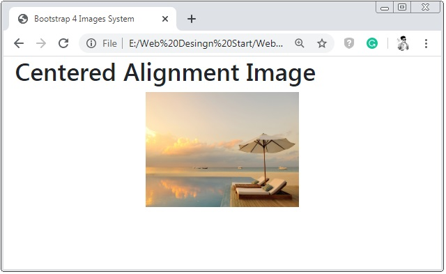Bootstrap 4 Centered Images