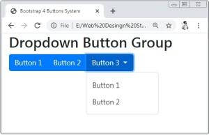 Bootstrap 4 Dropdown Button Group