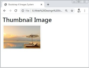Bootstrap 4 Images Thumbnail