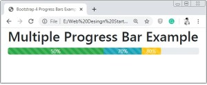 Bootstrap 4 Multiple Progress Bar
