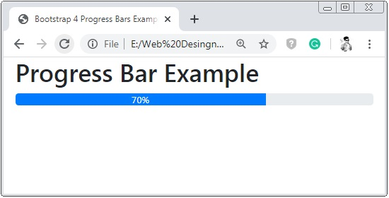 Bootstrap 4 Progress Bar Examples