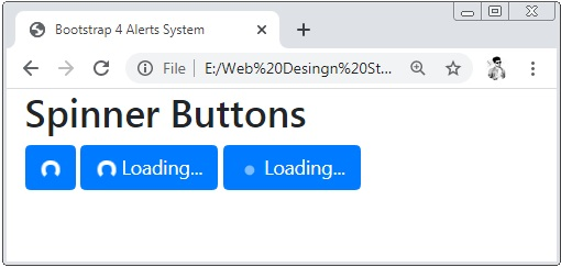 Bootstrap 4 Spinner Buttons