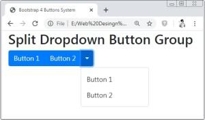 Bootstrap 4 Split Dropdown Button Group