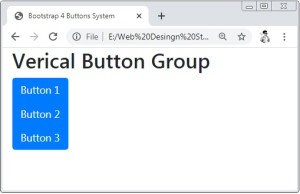 Bootstrap 4 Vertical Button Group