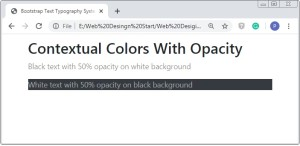 Bootstrap Text Color